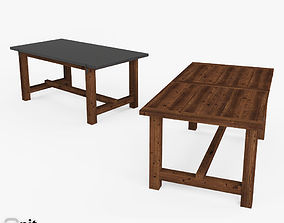3D model Reclaimed Wood-Zinc-Top Strap Rectangular 3