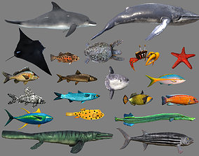 3D asset Low poly Fish Collection Animated - Game Ready 1