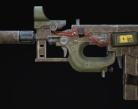 3D asset Nyx Rifle Scifi Game Ready