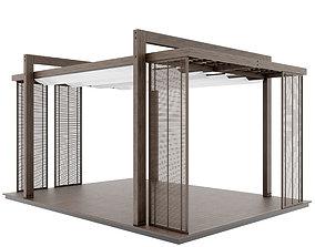 exterior forging Pergola 3D model