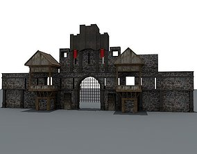 3D model Lowpoly CatleGate 1