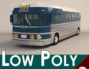 3D model Low Poly Cartoon Intercity Bus