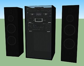 Big Stereo Setup - Multiple Components 3D