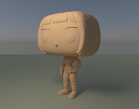 Custom Pop Female Short Hair Figure 3D Print