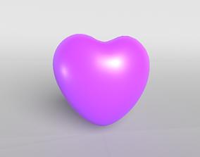 3D model valentine Purple Heart
