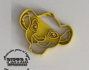3D printable model SIMBA MOLDE CORTANTE PARA GALLETAS 3