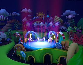 Asset UE4 - Cartoons - Background - Stage- Hight Poly 3D