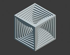 3D printable model Inner spiral vortex cube
