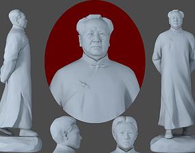 china chairman Mao president leader Mao Zedong 3D model