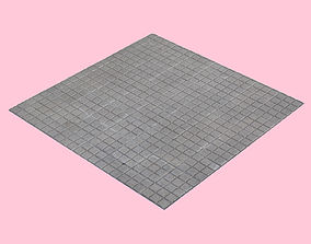 Square Tiled Sidewalk photogrammetry 3D model