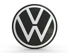 volkswagen logo 4 3D