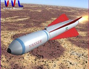 3D model Yasser Missile