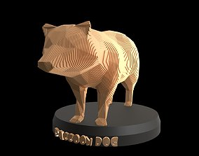 3D model Parametric Raccoon