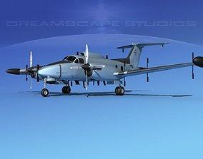 3D Beechcraft RC-12N Guardrail USAF 1