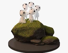 Kodama Spirits Mononoke 3D model