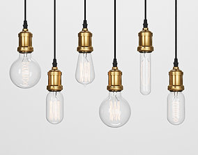 Edison Lamps Pack 3D