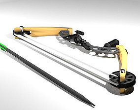 3D model Bow and Arrow - Compound