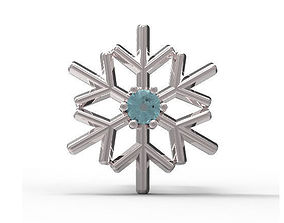 3D print model Snowflake earrings Ear Stud gold