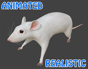Mouse 3D Model animated low-poly