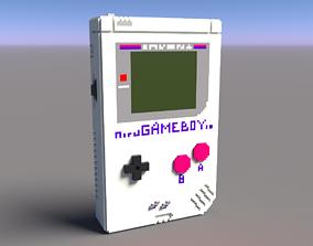 3D model Voxel Game Boy Nintendo
