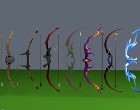 ranged Bow and Arrow Set 3D asset