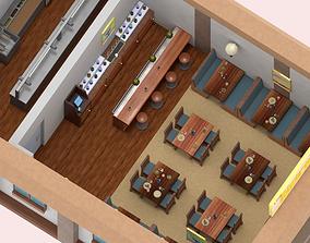 Low-Poly PBR Restaurant Pack 3D model