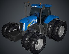 New Holland T8040 Low Poly 3D model
