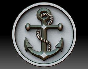 anchor 3D print model jewelry