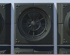 3D model Animated Industrial Fan Low Poly