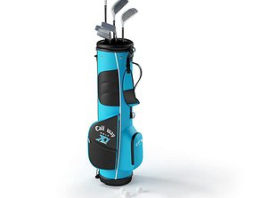 Callway Golf Stick With Bag 3D