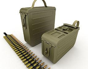 3D ammunition boxes for machine gun