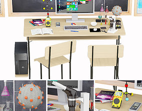 Laboratory physics room 3D model