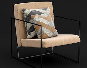 Modern chair 3D furniture living