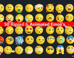 3D asset 50 Animated Emoji Pack