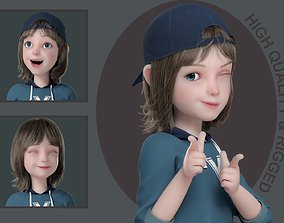 3D model Cartoon Boy Rigged kid