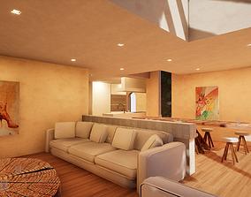 3D model VR / AR ready SHC Spanish Modern House 3