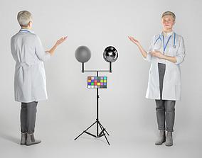 Female doctor demonstrating smth 269 3D model