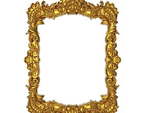 wall-mirror carved frame 3D