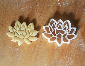 3D printable model Lily flower cookie cutter