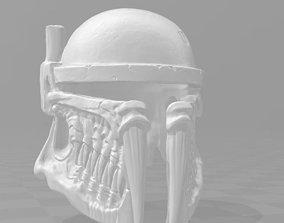 3D printable model Boba fett skull helmet
