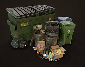 Urban Trash Pack Vol 3 3D model realtime