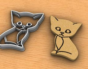 Cat Cookie Cutter 3D print model