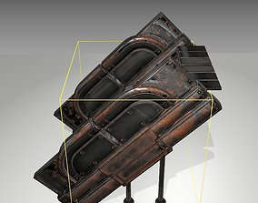 3D asset Futuristic Stairs - 24 - Rusty Textures