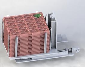 stacking feeding mechanism slide 3D