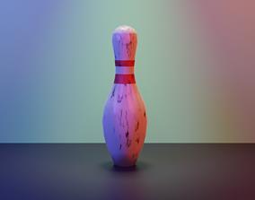 3D model game-ready Bowling Pin
