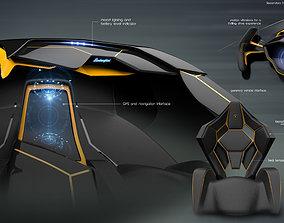 Automotive interior concept 3D