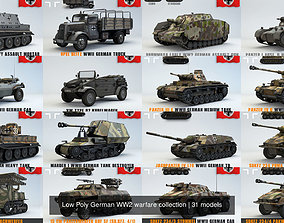 3D Low Poly German WW2 warfare collection