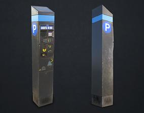 3D model PBR Parking Meter