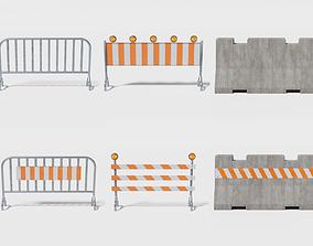 3D model Street barriers