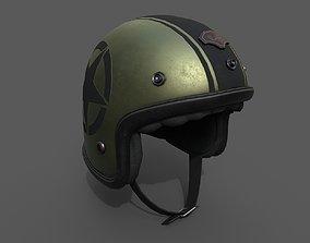 Helmet scifi racer Generic sport 3D asset